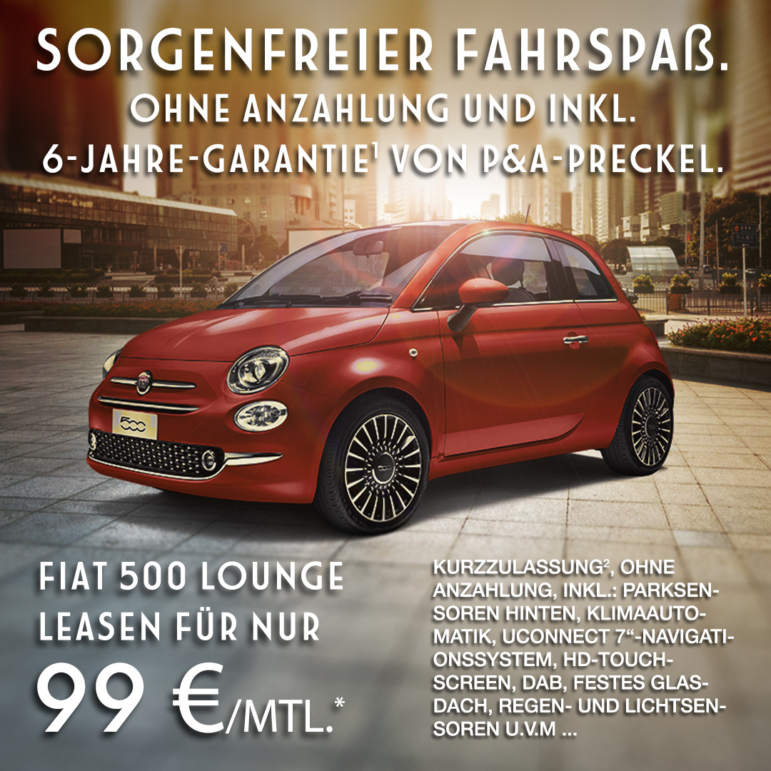 Autozentrum P&A Fiat 500 privat leasen