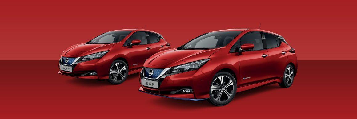 Nissan Leaf Solid Red