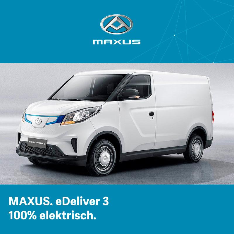 Maxus eDeliver 3 100% elektrisches Nutzfahrzeug günstig bei Preckel Autozentrum