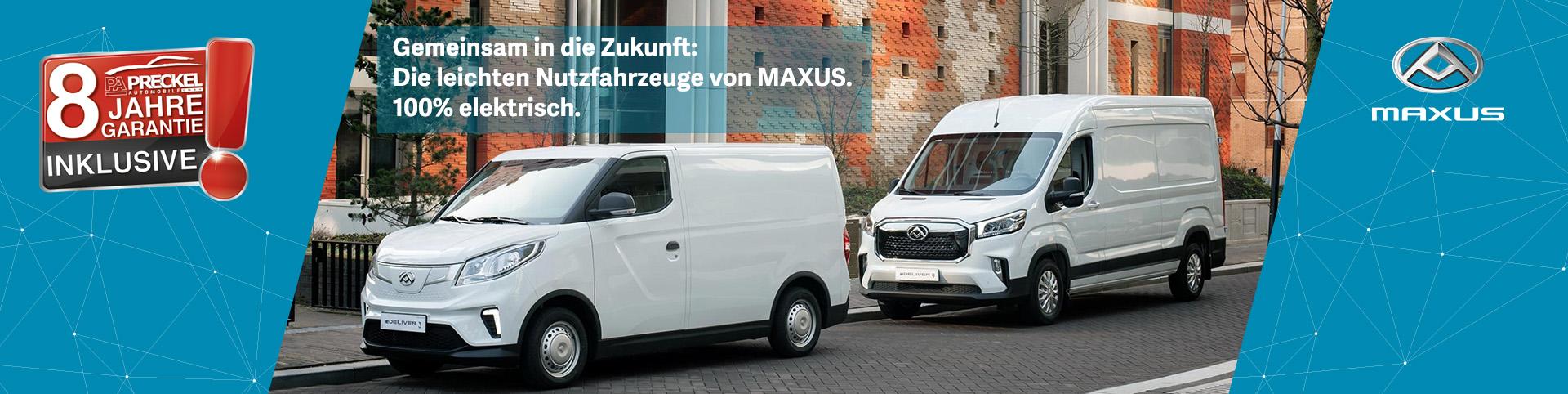 Maxus Nutzfahrzeuge bei Preckel Automobile