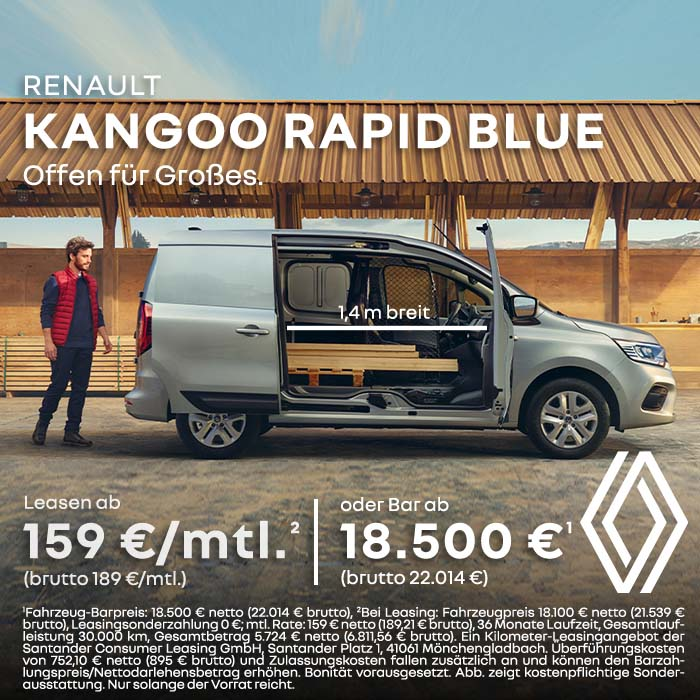Renault Kangoo Rapid Open Sesam 140 cm bei Preckel Automobile