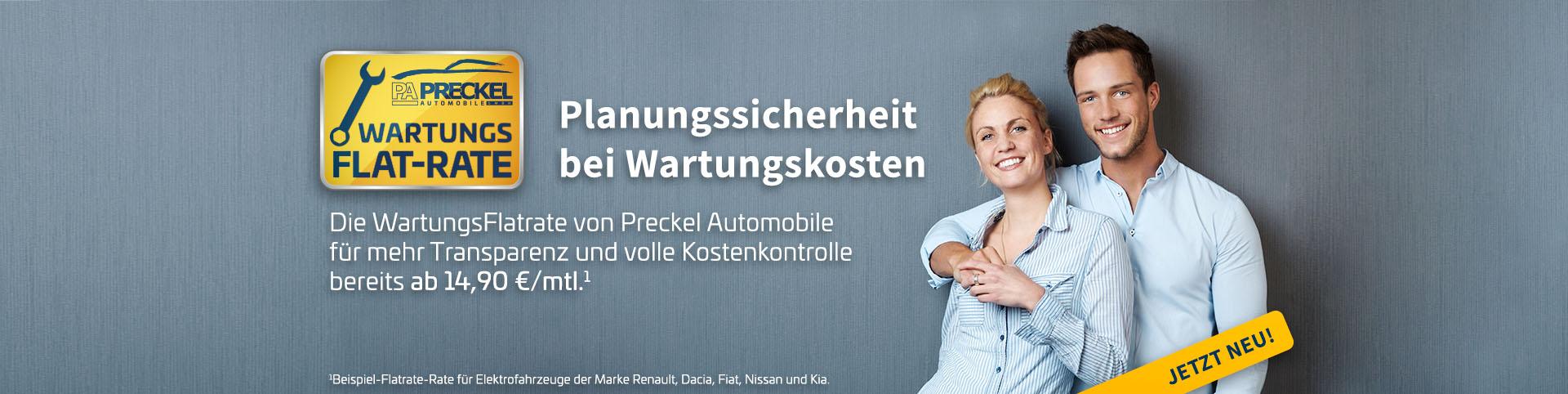 Planungssicherheit bei Wartungskosten - die WartungsFlatrate von Preckel Automobile