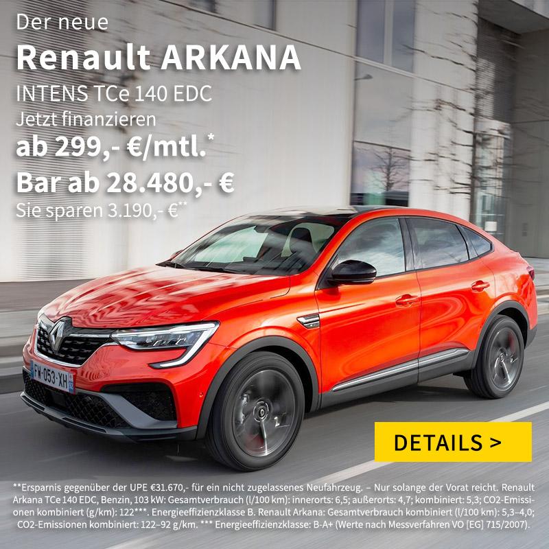 Renault Arkana finanzieren bei Autohaus P&A Preckel
