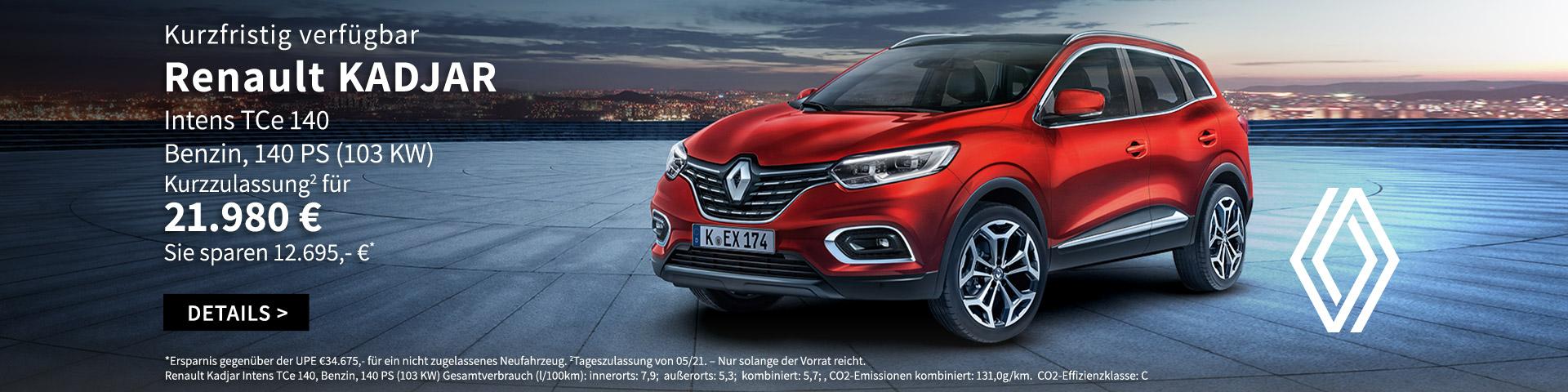 Kurzfristig verfügbar Renault KADJAR im Autozentrum PA/Preckel