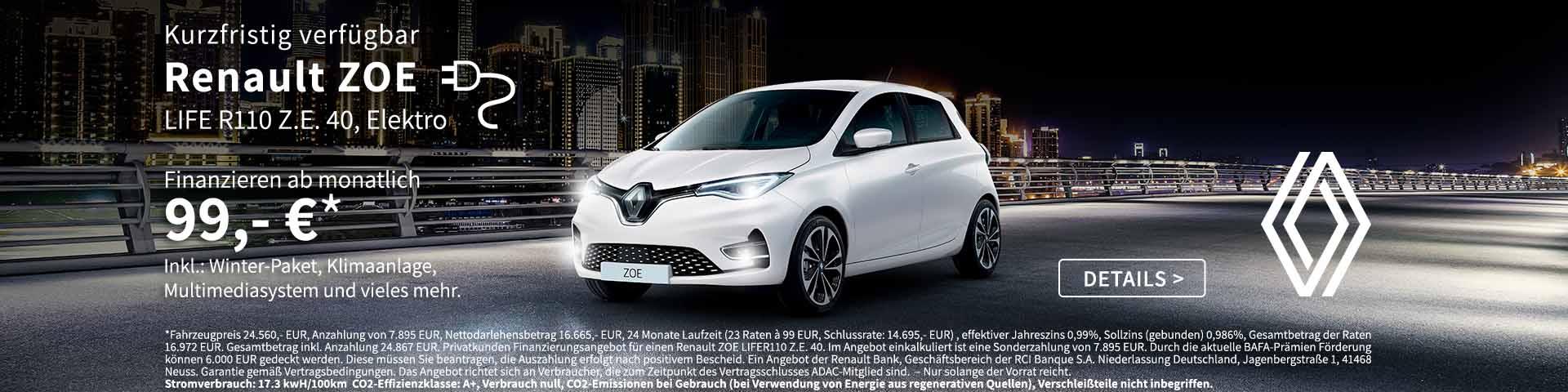 ZOE günstig finanzieren - Preckel Automobile