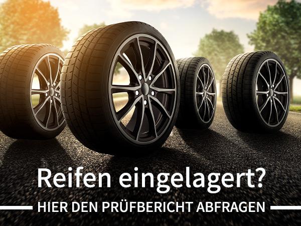 Reifen eingelagert? Jetzt Reifenstatus online abfragen