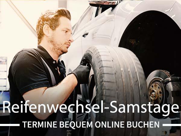 Reifenwechsel-Samstage! Jetzt Online-Termin vereinbaren.