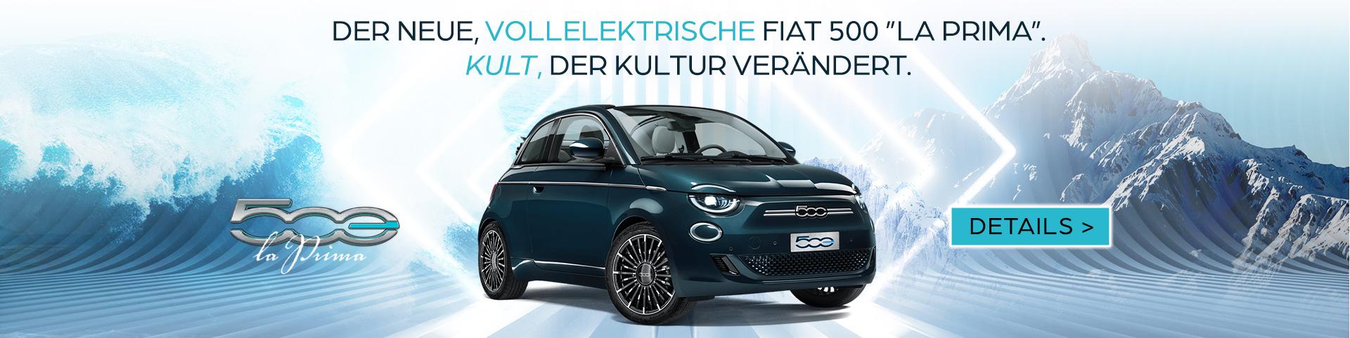 Fiat 500 La Prima 100% Eletro - Vorpremiere bei Preckel