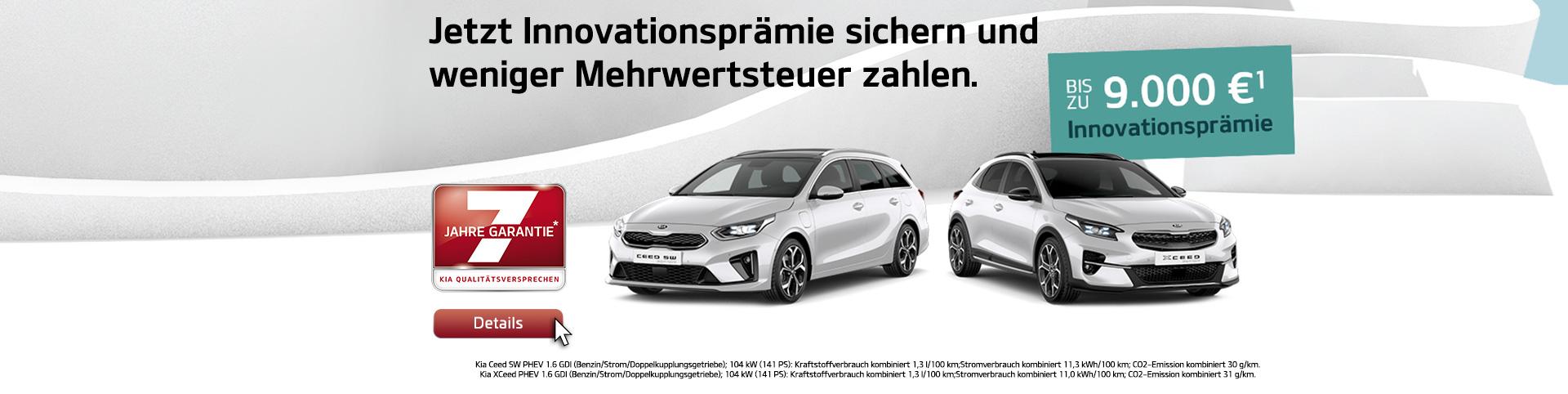 KIA Innovationsprämie für Elektrofahrzeuge und Plug-in-Hybrid-Modelle