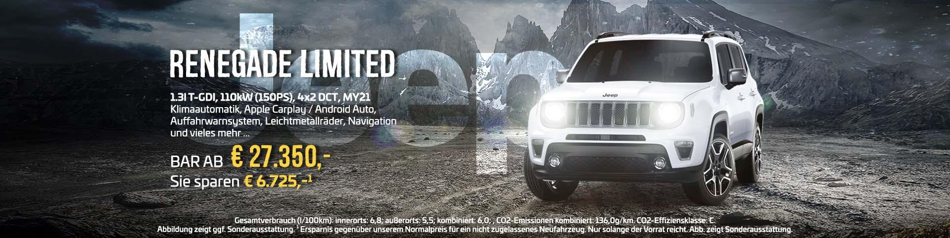 Jeep Renegade günstig bei Preckel Automobile