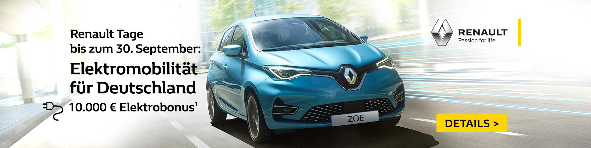 Renault Tage bei P&A Preckel bis zum 30. September